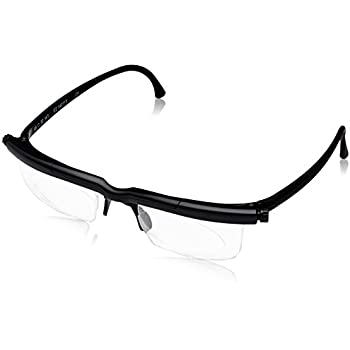 Adlens Adjustable Variable Focus Eyeglasses (Black) Unisex Best Computer  Reading Driving Glasses Emergency Replacement for Prescription Lenses -6 to  +3 ... f14ee00c15