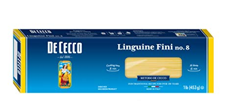 De Cecco Semolina Pasta, Linguine Fini No.8, 1 Pound (Pack of 5) ()