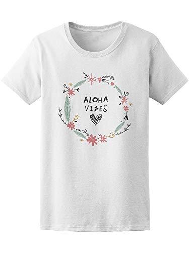 Pastel Wreath Flower Frame Aloha Tee Women's -Image by Shutterstock from Teeblox