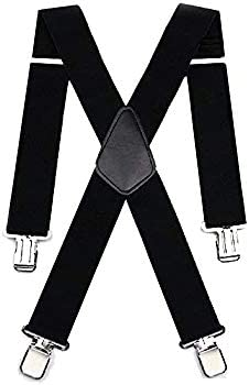 "Draper Mens Black Braces Heavy Duty 2/"" for Work or Motorbike Trousers Tool Pouch"