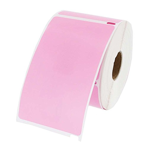 Dymo Compatible 30256 Pink Shipping Labels 300 labels per roll, 1 roll per package