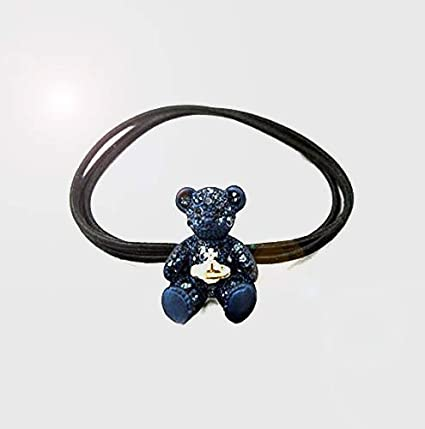 Amazon.com  Bear Hair Tie Crystal Hair Tie Crystal Hair Elastic Swarovski  Crystal Element Hair Elastic Teddy Bear Hair Tie Ponytail holder Tie  Children  ... 46faa71e55c