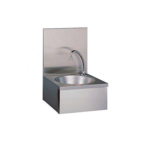 Lave-mains professionnel, commande par panneau basculant - Avec dosseret bdp