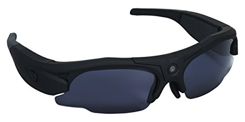 Hunters Specialties i-KAM XTREME 720P HD Video Eyewear, Flat Black  HD Hidden Camera Hunting Glasses Video Recorder Mini DV Camcorder Support Photo Taking