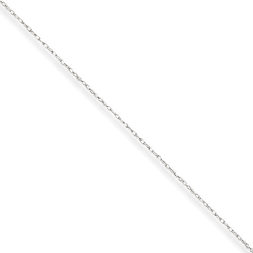 .50mm, 10 Karat White Gold, Cable Rope Chain – 24 inch