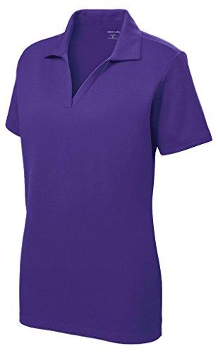 Women's Dri-Equip Short Sleeve Racer Mesh Polo Shirt-4XL-Purple