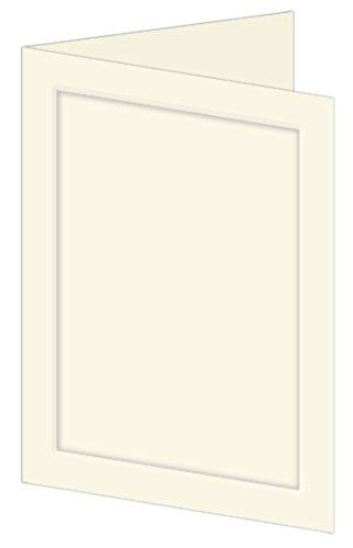 Ecru Folder (Emboss Panel Folder, A7 (5x7), LCI Ecru Cardstock, 65lb, 50 pack)