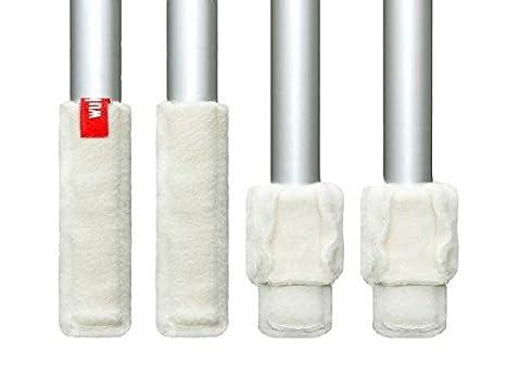 Wukies Stuhlsocken Stulpe Standard, Umfang 10 - ca. 13cm, Wollwei/ß