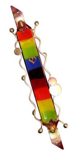 Gary Rosenthal Mezuzah Cover - Rainbow