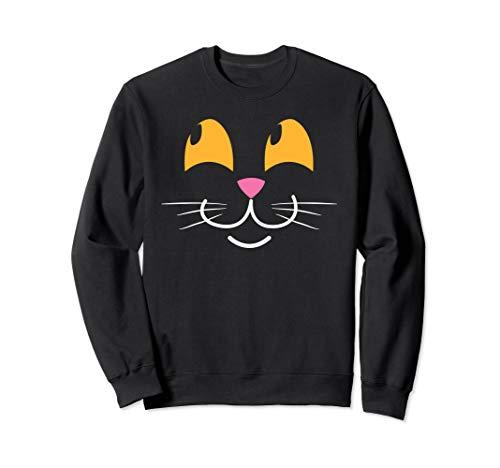 Cute Halloween Cat Face Kitten Face Costume Sweatshirt]()