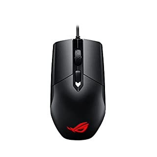 ASUS Ambidextrous Optical Gaming Mouse - ROG Strix Impact | Wired Gaming Mouse for PC | Ergonomic Design, Ultimate Comfort | Non-Slip Grip | Aura Sync RGB, Armoury II