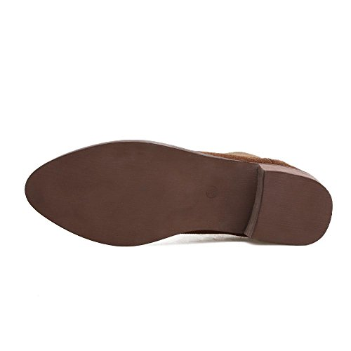 L@YC Botas De Mujer Botas De OtoñO Y Invierno / al aire Libre / Zapatos De TacóN alto Piel Negra / MarróN Brown