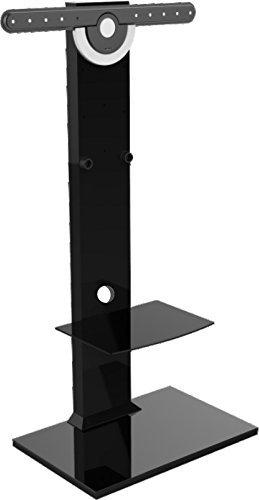 【アウトレット 】 STARPLATINUM 高品質 37-65インチ対応 ブラックテレビスタンド TVタワースタンドGP502 【液晶テレビ壁寄せ】   B077HG9FTL