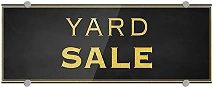 Yard Sale 5-Pack Classic Gold Premium Acrylic Sign 8x3 CGSignLab