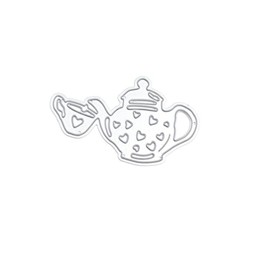 Teapot Cutting Dies Stencil Cup Metal Template DIY Paper Card Tool 1 Pc