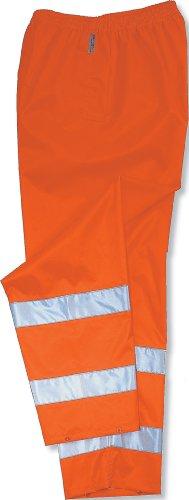 Ergodyne GloWear 8915 ANSI High Visibility Orange Reflective Safety Rain Pants, Small