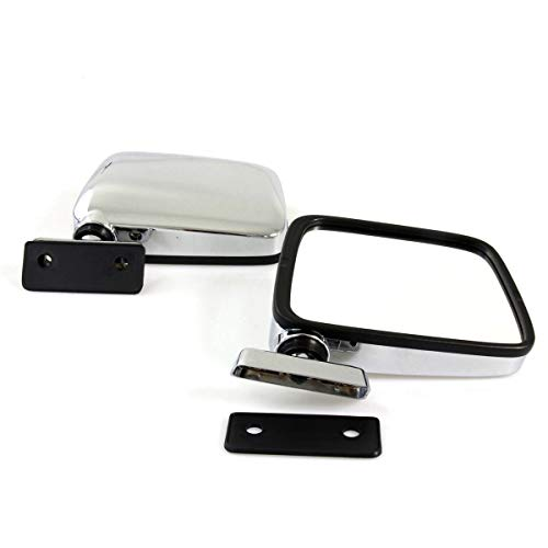Mount Mirror Door Deluxe (L/R Door Mirrors Chrome Fit for 1960-1997 Datsun Nissan 720 120Y 520 521 620 B310 Patrol GQ GR Y60 TD42 4WD Deluxe Sport Ford Maveric Sedan Pickup Truck UTE New)