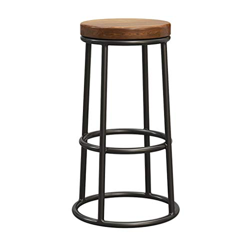 Amazon Com Industrial Barstools Chair Iron Footrest Brown