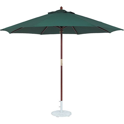 Tropishade 11-foot Wood Green Market Umbrella (Snap 132)