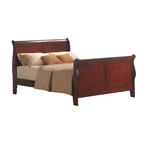 - BOWERY HILL King Sleigh Bed in Cherry
