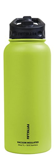 Price comparison product image Fifty/Fifty V34002LM0 34oz Lime Vacuum Insulated Bottle, 1 Pack
