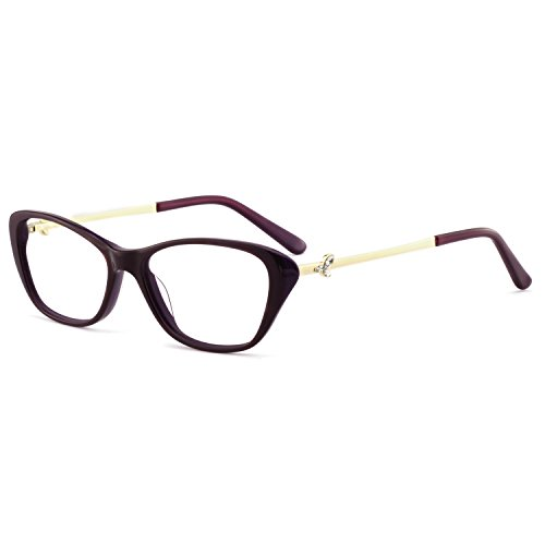 OCCI CHIARI Stylish Women's Eyewear Clear Lens Frame Glasses Samll Circle Non Prescription Eyeglasses (OC7031-C4 ()