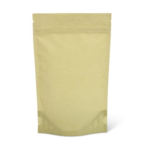Rice Green Paper - Pacific Bag 430-211GR Stand-Up Pouch, 4 oz, Light Green Rice Paper with Zipper (Case of 500)