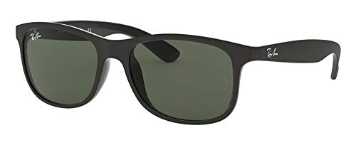 Ray-Ban RB4202 ANDY 606971 55M Matte Black/Dark Green Sunglasses For Men For Women (Ray Rb4202 Sunglasses Ban)