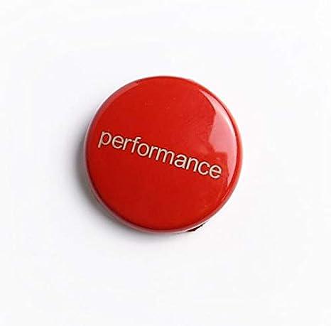 Rouge Iycorish Moteur de Voiture Commencer Arr/êter Le Bouton de LInterrupteur Remplacez Le Capot E60 E70 E71 E90 E92 E93