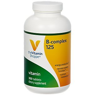 BComplex 125 – Supports Energy Production, Nervous System Function Nutrient Metabolism – Excellent Source of B1, B2, B6, B12, Niacin, Folic Acid Biotin (300 Tablets) by The Vitamin Shoppe