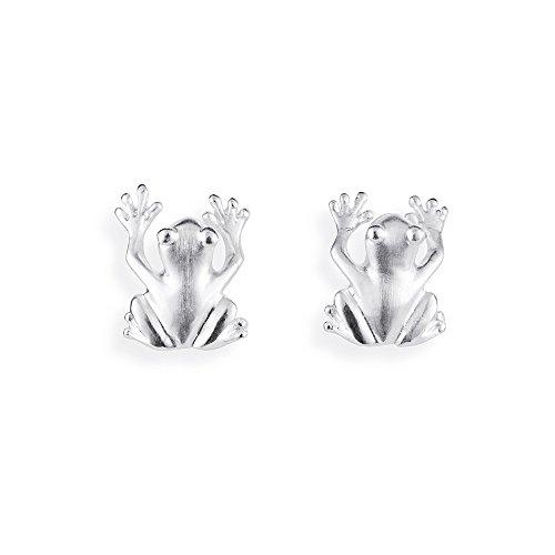 Drachenfels design grenouille-boucles d'oreilles femme-argent 925 mat pour 26/aG d