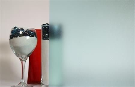 Aqua Textured, Decorative, Privacy, Static Cling Window Film. (5