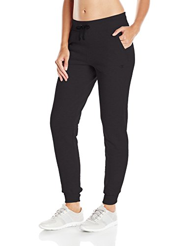 Champion Women's Fleece Jogger, Black, Small