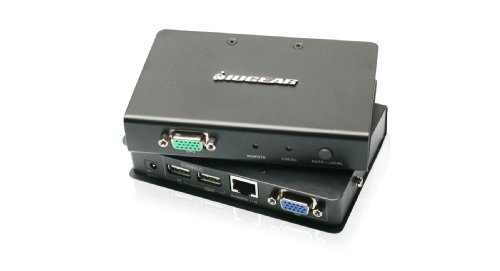 - IOGEAR USB 2.0 VGA KVM Console Extender Up to 500 Feet, GCE500U