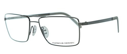 Men Eyeglasses Porsche Design P8281 Full Rim Rectangular (Dark Gun - Glasses Eye Porsche