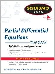 Book Schaum's Outline of Partial Differential Equations 1st (first) edition Text Only