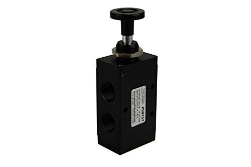 (Hand Push Pull Button Pneumatic Air Control Valve 3 Port 3 Way 2 Position 1/2