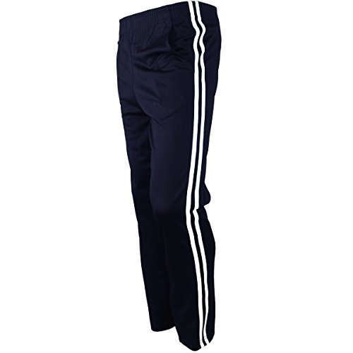 Navy Blue Tracksuit (myglory77mall Men's Running Jogging Track Suit Warm Up Pants Gym Training Wear M US(XL Asian Tag) Navy)