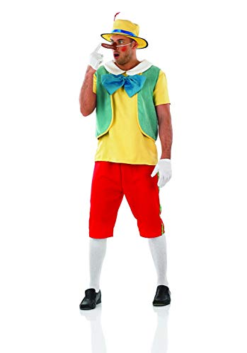 Mens Wooden Puppet Costume Adults Real Boy Movie Character Outfit - -