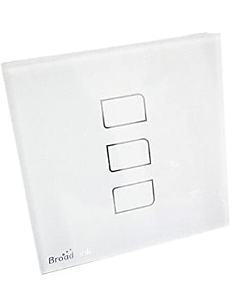 Broadlink Tc3 Stalinite Three Way White Touch Switch Ac 110 250v