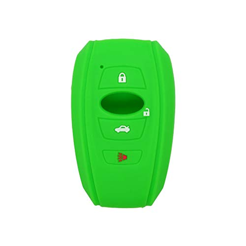 SEGADEN Silicone Cover Protector Case Skin Jacket fit for SUBARU 4 Button Smart Remote Key Fob CV4255 Light Green