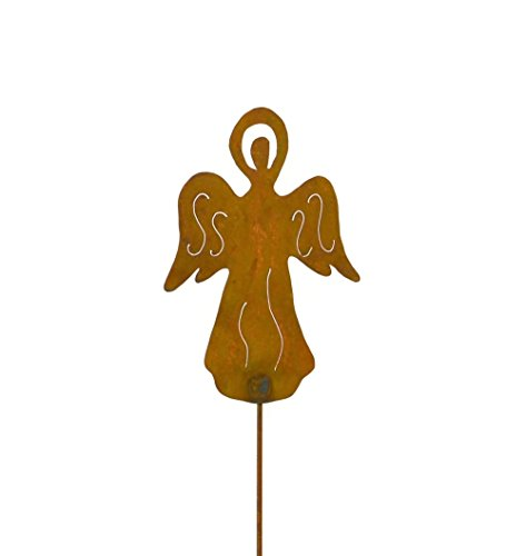 Old Angel Metal Yard and Garden Stake, Patio and Yard Art - Angel Garden Stake
