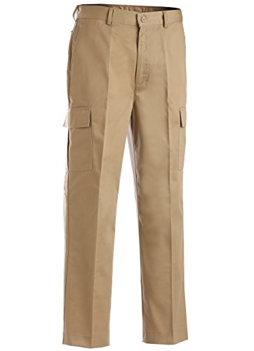 Edwards Men's Utility Flat Front Cargo Pant, Tan, 28 36