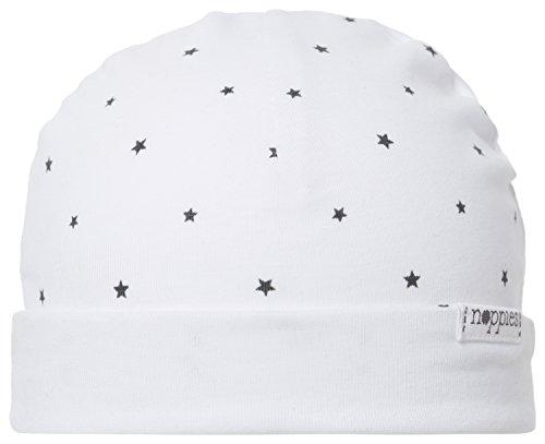 Noppies Unisex Baby Mütze U Hat REV Dani AOP, Sternchen, Gr. One size (Herstellergröße: 0M-3M), Weiß (White C001)