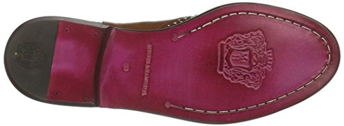 Melvin&Hamilton Sally, Zapatillas de Estar por Casa para Mujer, 45 EU Beige - Beige (Crust Tan/Rivets/Ela.Dk.Brown/New LS)