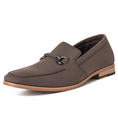 Mens Queensbery Charles Comfort Penny Office Driving Loafers Moccasin - Brown - EU44/US11 - QB0009