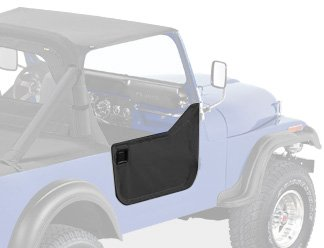 Bestop 53038-15 Black Denim Fabric Lower Half Door Set for 1980-1995 CJ7, CJ8 Scrambler and Wrangler YJ - Door Latch Pivot