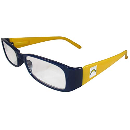NFL Team Color Reading Glasses (+2.00, San Diego Chargers)