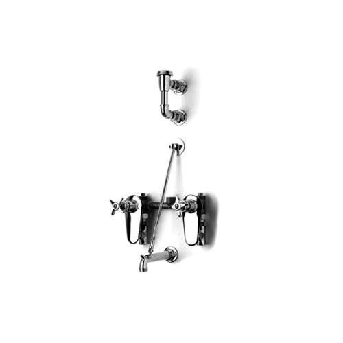 T&S Brass B-0695-ST Concealed Mixing Valve Integral Stops Breaker 3/4-Inch Hose Service Sink Faucet by T&S Brass