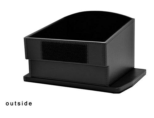 Topfit Rear Center Storage Box for Tesla Model X, Seat Back Center Container for Tesla Black
